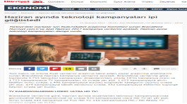 Technology campaigns captured attention in June