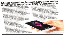 Akıllı Telefon Kampanyalarında Android düşüşte iOS yükselişte