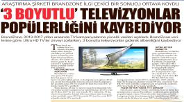 3 Boyutlu televizyonlar popülerliğini kaybediyor.