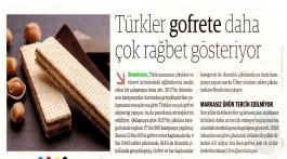 Türkler gofrete daha çok ilgi gösteriyor