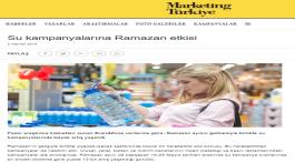 Su kampanyalarına Ramazan etkisi