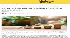 Haziran ayında teknolojide Samsung, FMCG'de Unilever zirvede!