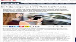 En fazla kampanya 1.000 TL'lik telefonlarda