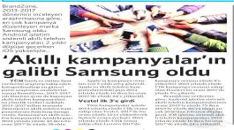 Akıllı Kampanyalar'ın galibi Samsung oldu.