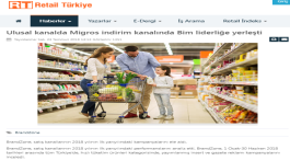 Migros in National Channel, Bim in Discount Channel were the leaders